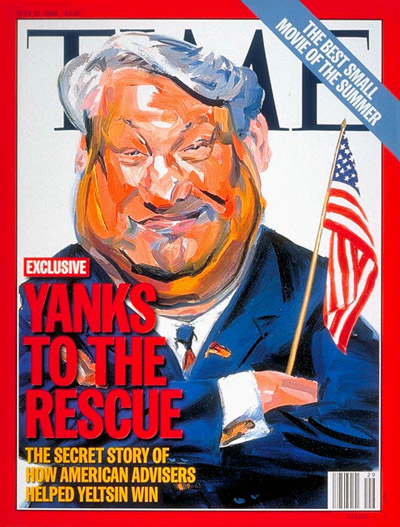 yeltsin 1996 time cover