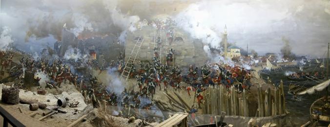 storming of izmail danilevsky sibirski diorama 1973